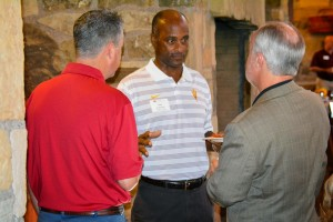 Ray Anderson, ASU Athletic Director, Speaks with Dan Saftig and a PEP Attendee